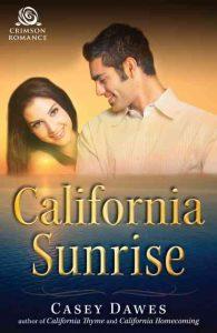 California Sunrise, contemporary romance, cover